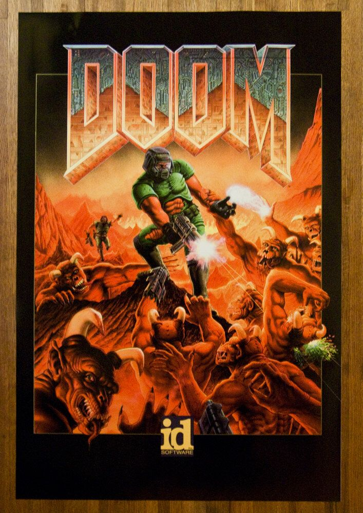DOOM Video Game Poster- Multiple Sizes Available by kitschaus on Etsy https://www.etsy.com/listing/104561758/doom-video-game-poster-multiple-sizes