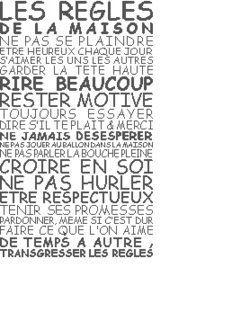 enfant - child - règles de la maison - point de croix - cross stitch - Blog : http://broderiemimie44.canalblog.com/: