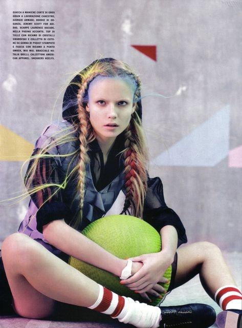 Glam and Sporty  Vogue Italia March 2010  Shot by: Craig Mc Dean  Fashion Editor: Tabitha Simmons