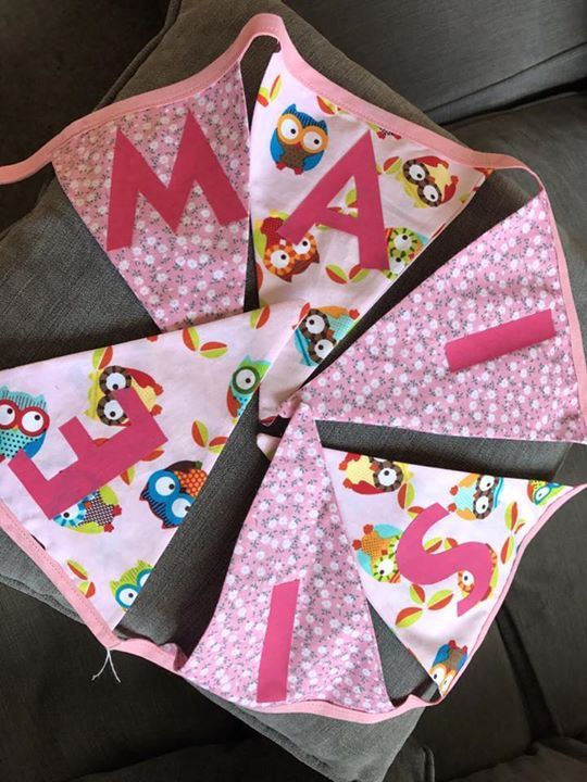 Been busy with some personalised bunting, this one has gone in the post today!
