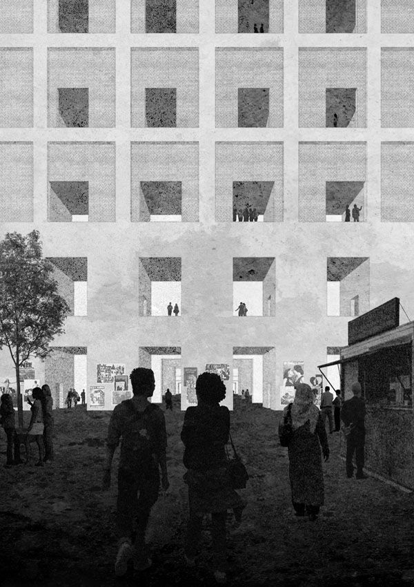 The Architectural Review's Folio Monodnok Proposal for National History Museum Monadnock proposed a system of access for a museum in an urban context, a prototype which is based on an arrangement of connected rooms. Monumental yet intimate, this collection of rooms offers a wide variety of spaces, with precisely defined proportions. The result is a vast and permanent matrix of rooms which allows an infinite amount of changes and dynamics. (Domus)