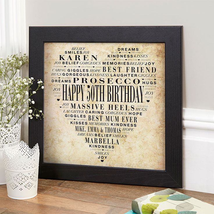 Personalised Gifts For Her 50th Birthday References