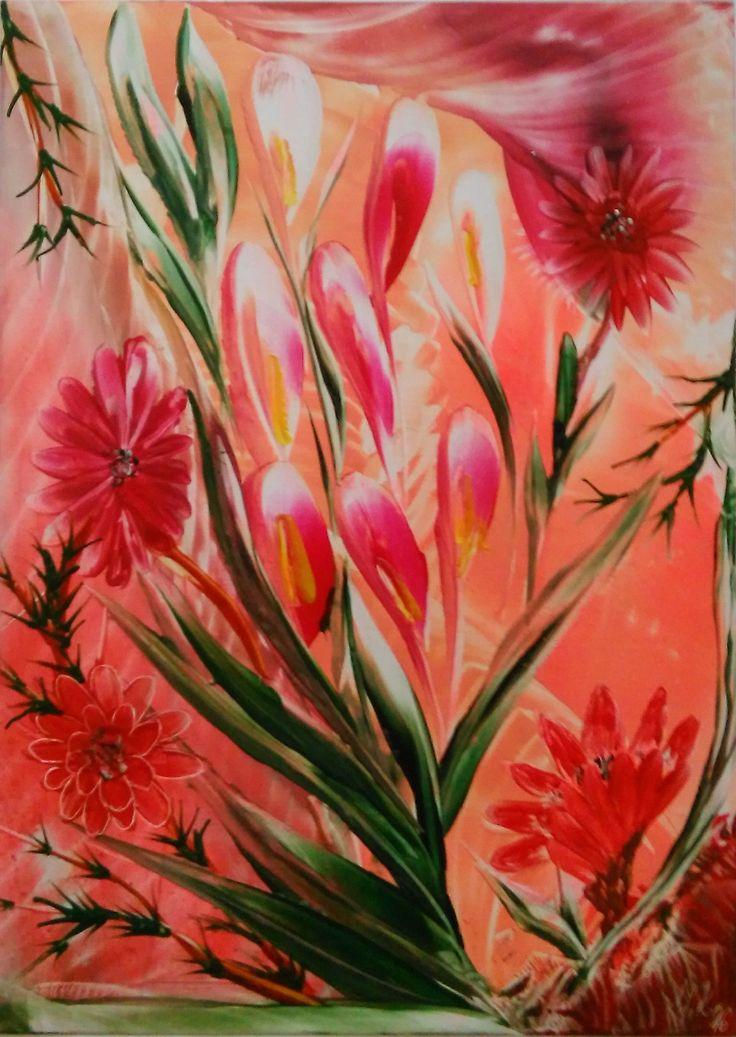 Toto boli moje prvé kvety vo formáte A4