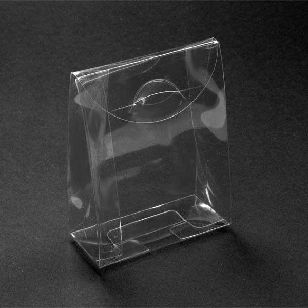 0,48€  Caja acetato transparente automontable 8.5x6x3 cms tipo sobre con solapa.