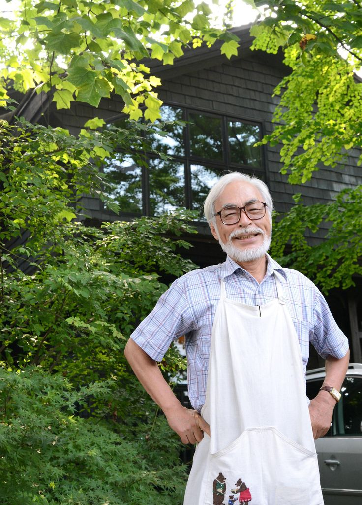 Hayao Miyazaki, outside his house on the release of his new film, Kaze Tachinu (The Wind Rises).
