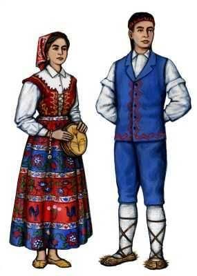 Фото мужского национального итальянского костюма