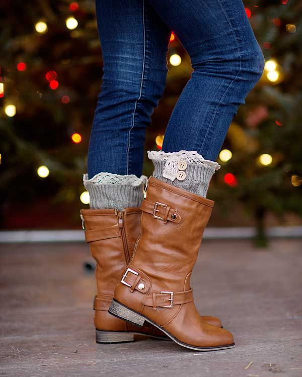 Not quite ready to commit to the ankle boot? Try these mid calf boots for the perfect winter accessory. These boots, with their buckle and faux zipper detailing, will pair perfectly with your favorite skinny jeans and leggings and keep your feel dry and warm this season.