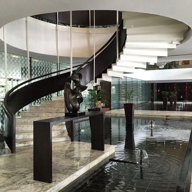 A grand staircase at Hyatt Regency Dar es Salaam. Photo courtesy of @instagrump1971.
