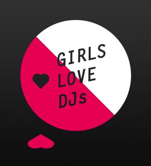 'Girls Love DJs' logo design 1#2