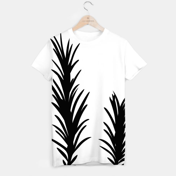 Artistic T-Shirt with Rosemary black