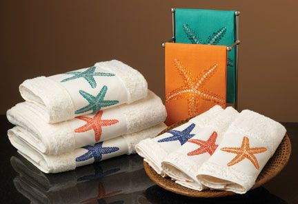 Starfish Bath Towels