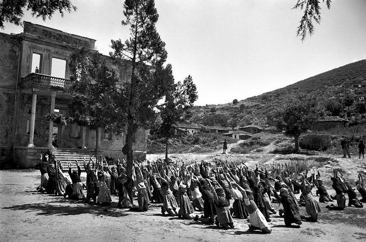 Μαθητές στον Χορτιάτη - 1948 Φωτογραφία David Seymour - Magnum Photos