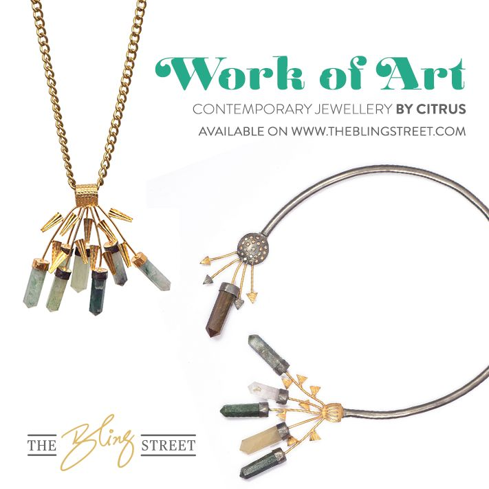 Contemporary Jewellery by Citrus - It's a work of Art  http://www.theblingstreet.com/designers/citrus