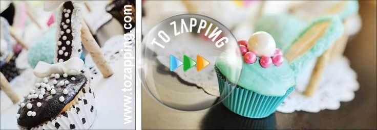 Cupcakes de zapatos de tacón alto