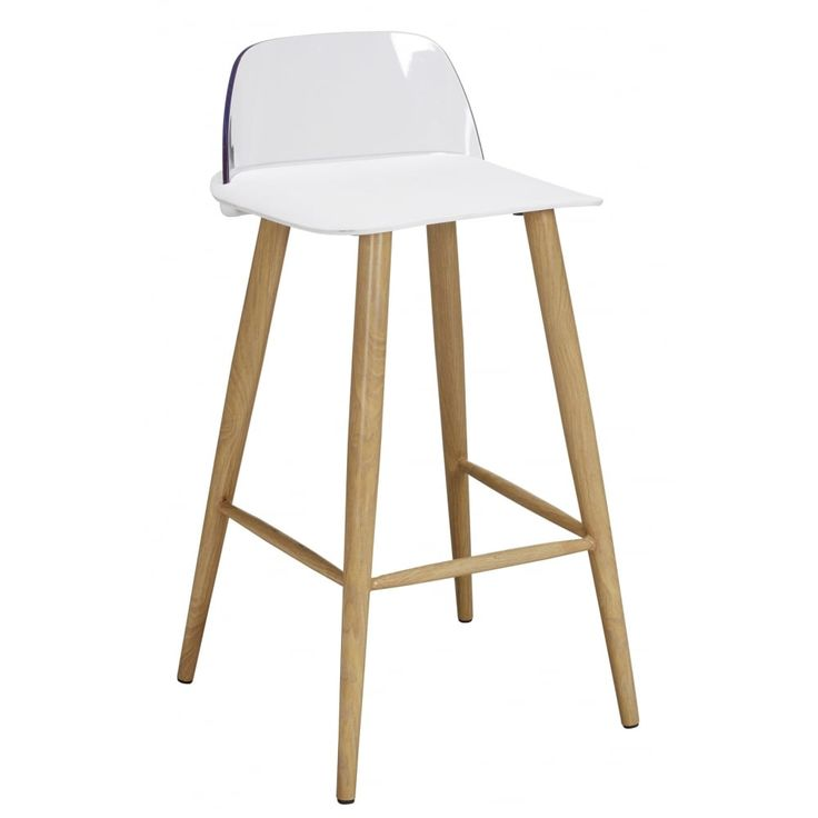 Lpd furniture Chelsea white bar stool (pair). Bring a fresh air of ambience to your kitchen with these designer Scandinavian look bar stools. Shown with white seat pad. Now available at www.emporiumhomeinteriors.co.uk