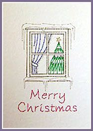 Xmas Pudding and Window Prick 'n Stitch Card Designs
