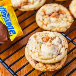Unbelievably soft & chewy butterfinger cookies. Enough said.