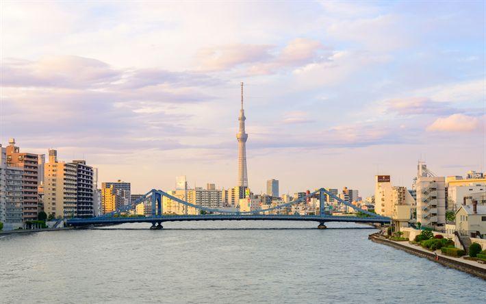 Lataa kuva Tokyo Skytree, Tokio, moderni arkkitehtuuri, Japani, metropoli