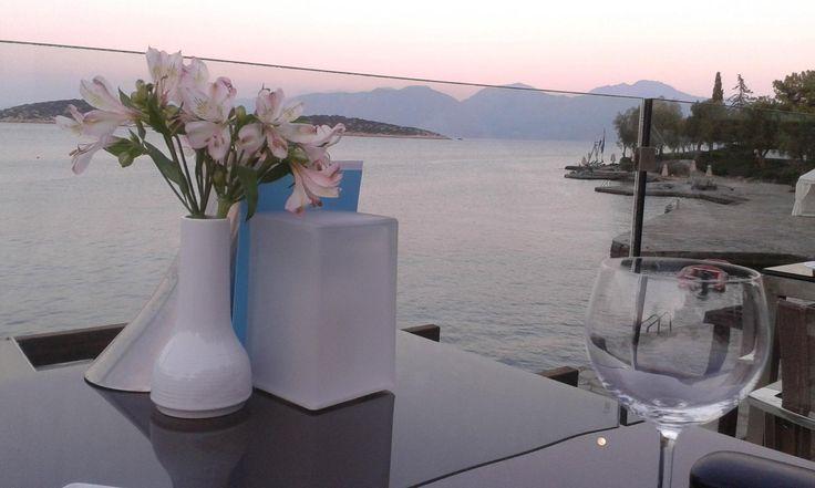 Best table in the house at Bouillabaisse Restaurant of #MinosBeachArt hotel  Photo taken by VicandPer