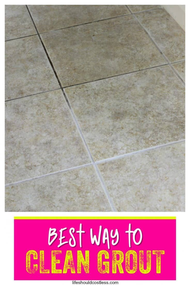 How To Clean Grout The Cheapest And Easiest Way To Clean Tile Grout For Floors Or Counter Tops Lifeshould In 2020 Grout Cleaner Cleaning Floor Grout Clean Tile Grout