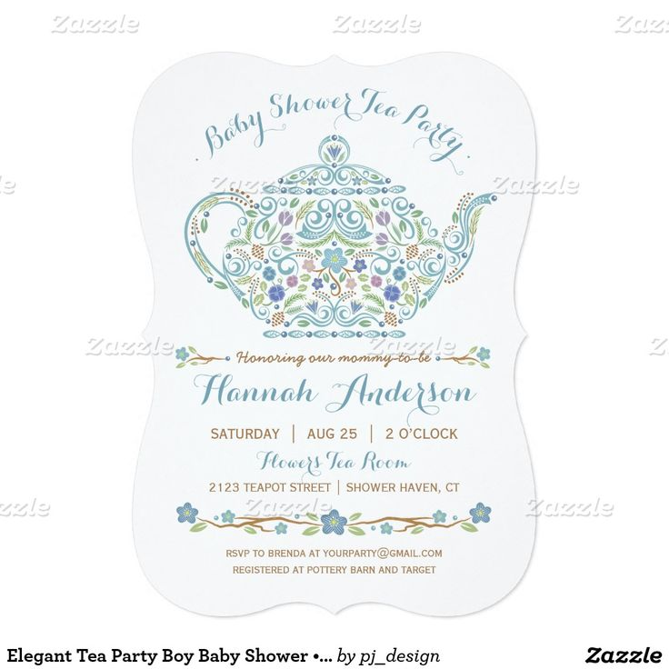 43 best bridal shower invitations images on pinterest bridal elegant tea party boy baby shower teapot 5x7 paper invitation card filmwisefo Gallery
