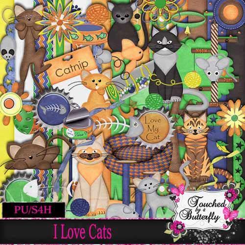 Детский скрап-набор - Я люблю кошек