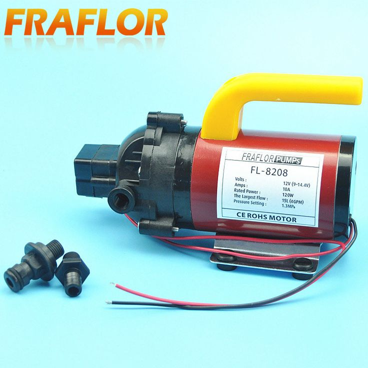 High Pressure DC 12V 120W Diaphragm Pump Portable Car Washer Pump With Pressure Switch Self Priming Sprayer Pump