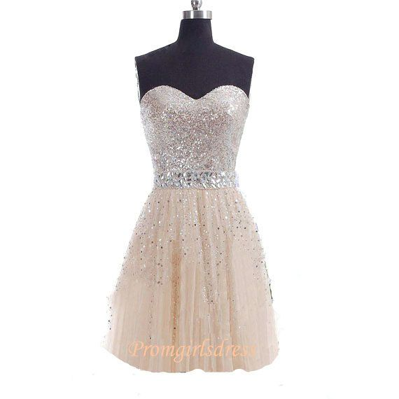 Homecoming Dress Sequin Homecoming Dress by Promgirlsdress on Etsy, $139.00