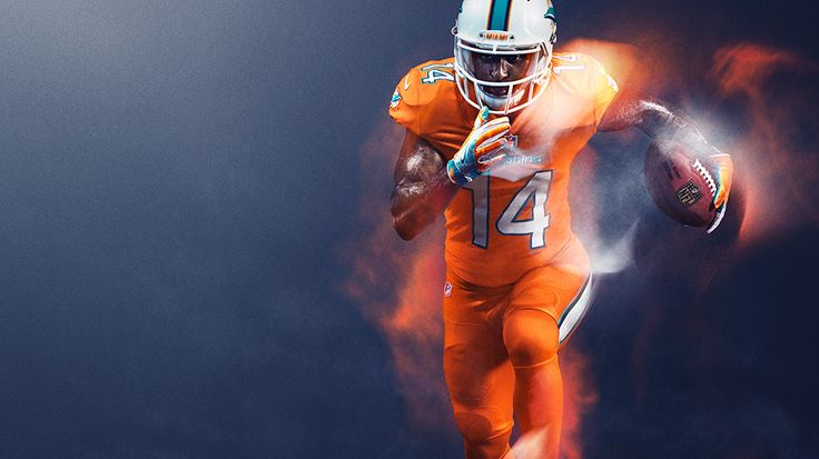 Miami Dolphins : NFL Color Rush uniforms for 2016 Thursday night games photos