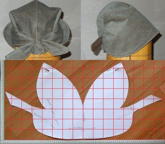 выкройка шляпки - Google Search