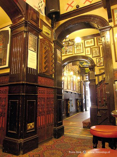 Pub interior in Liverpool, England