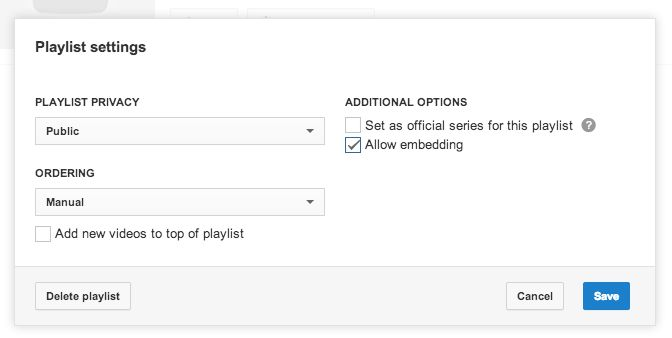 Playlist privacy settings - YouTube Help