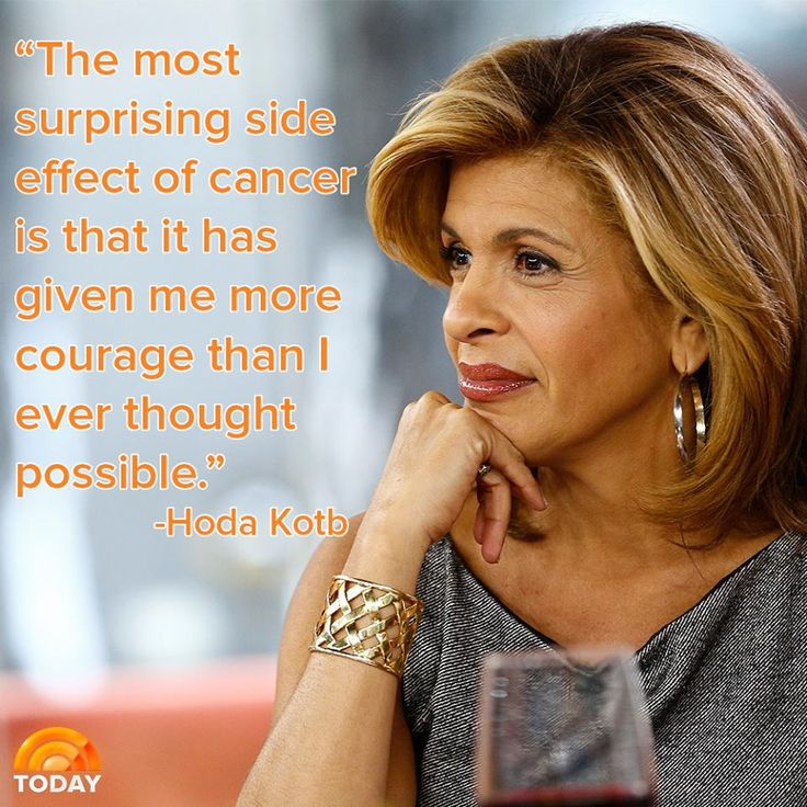 Hoda Kotb looks back on having cancer and shares something inspirational that she's learned.
