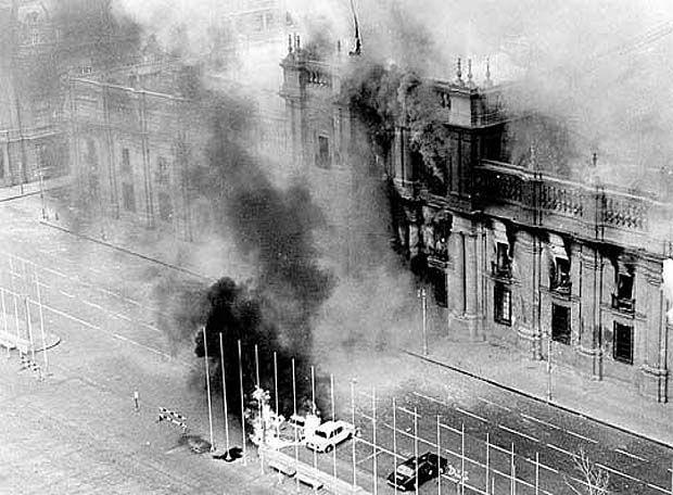 la Casa de La Moneda en Santiago de Chile, 11/9/1973