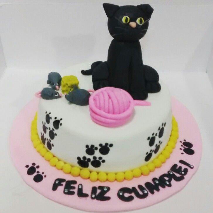 Cake cat happy birthday feliz cumpleaños