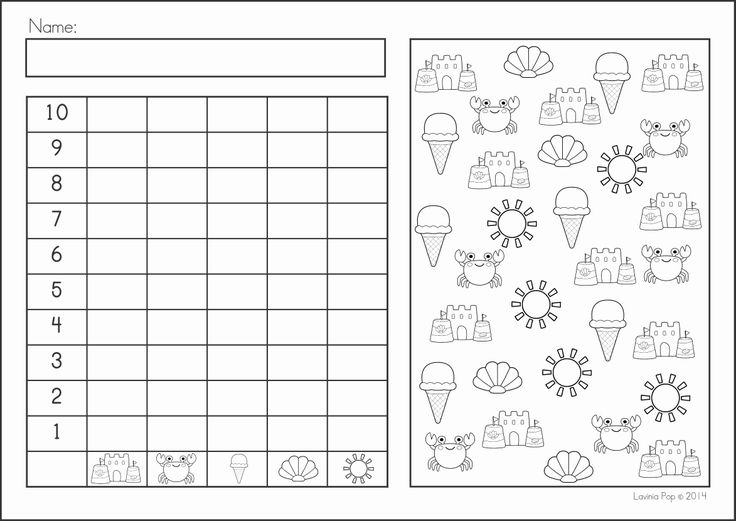 Kindergarten SUMMER Review Math & Literacy Worksheets & Activities. 104 pages. A page from the unit: Summer graphing
