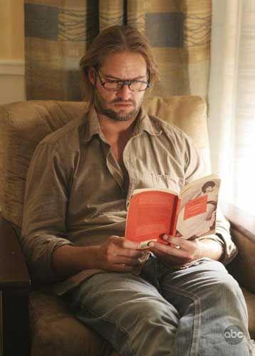 Sawyer reading by the window