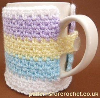Free crochet pattern for mug cozy http://patternsforcrochet.co.uk/mug-cozy-usa.html #patternsforcrochet #freecrochetpatterns