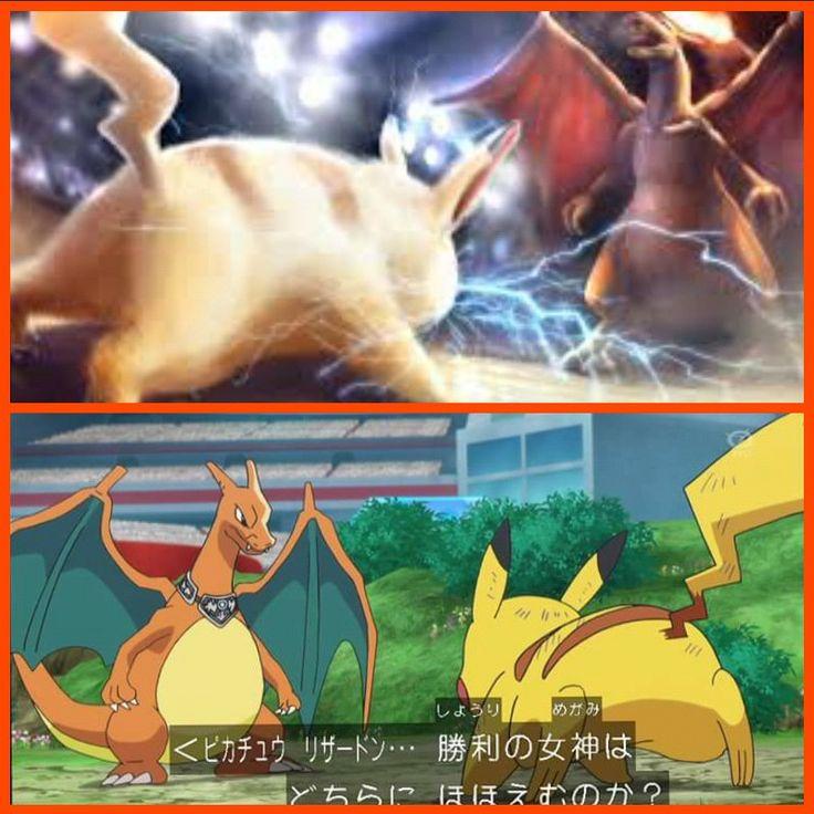 pokemon xy&z pikachu vs charizard