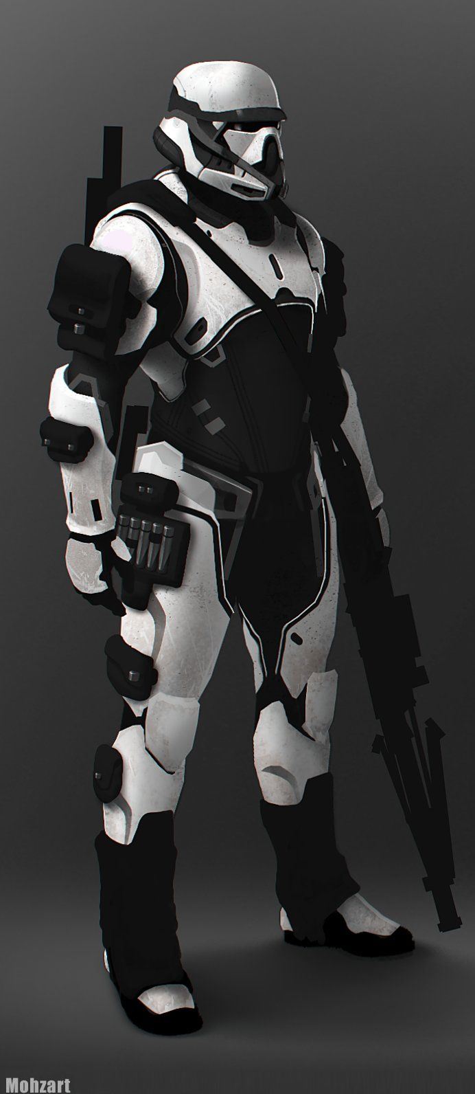 Stormtrooper fan art re-design by Moh Z. Mukhtar