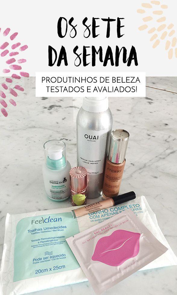 Dicas de produtos de beleza, uma seleção de produtos mais baratos, outros luxuosos, para a pele, maquiagem, tratamento etc.