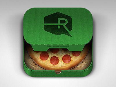Pizza app icon #ui #ios #icon