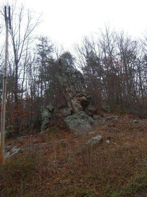 Hanging Rock, just north of Salem VA; site of Civil War skirmish in June 1864