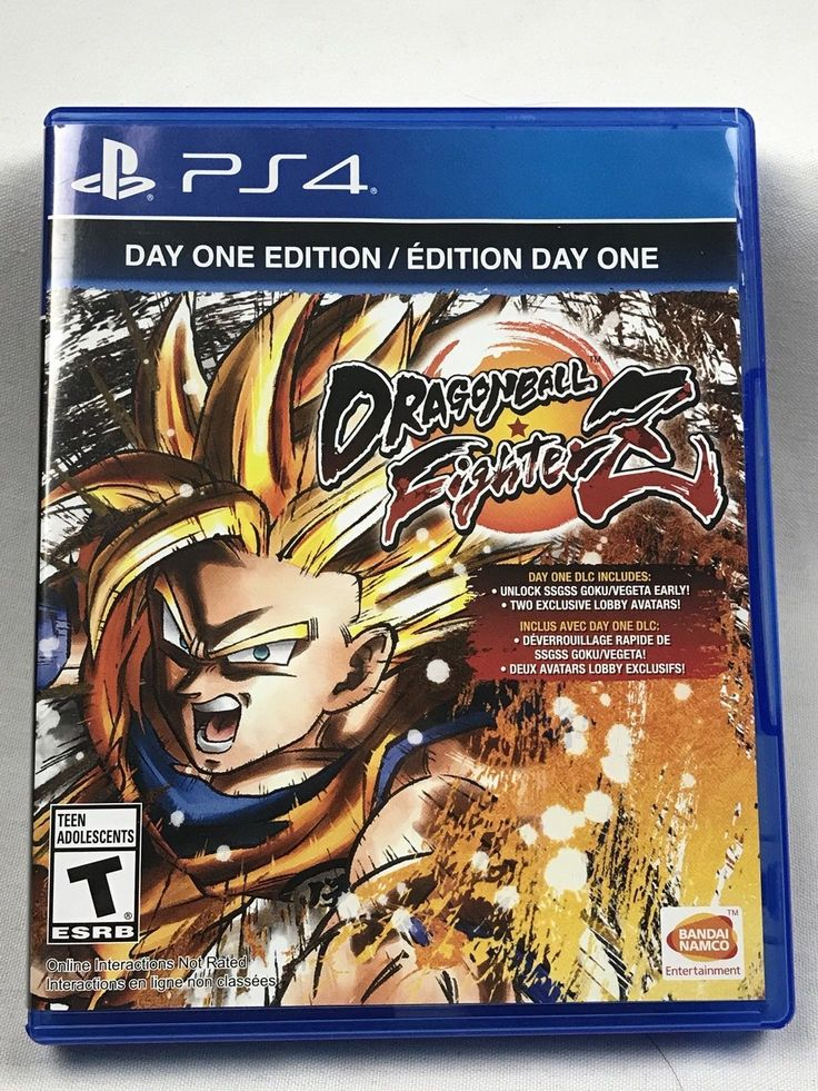Dragon Ball Fighterz Day One Edition (PlayStation 4, 2018 ) PS4 Video Game New: $44.99 End Date: Sunday Feb-25-2018 9:42:20 PST Buy It Now…