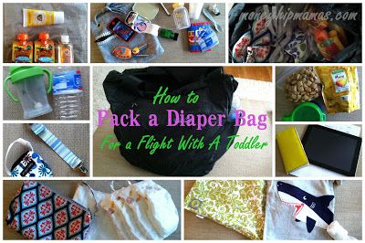 how to pack for a flight with a toddler