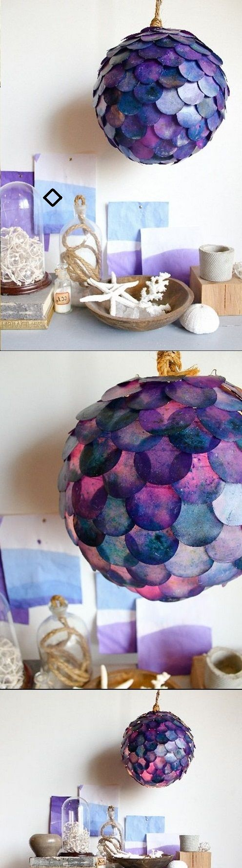 DIY PROJECT FISH SCALE PENDANT LAMP
