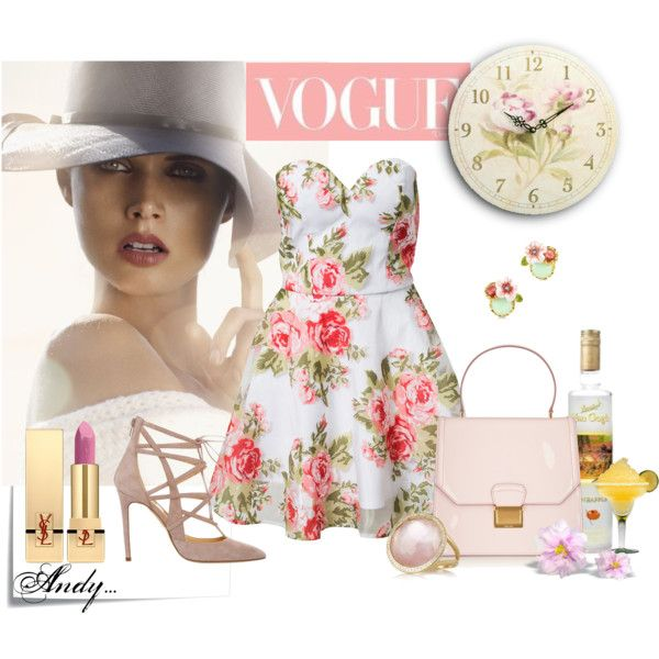 """chic floral dress!!"" by andyts on Polyvore"