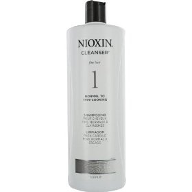 Nioxin Cleanser, System 1 (Fine/Untreated/Normal to Thin-Looking), 33.8 Ounce
