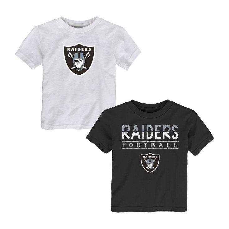 Oakland Raiders Toddler Boys' 2pk T-Shirt Set - 4T, Multicolored