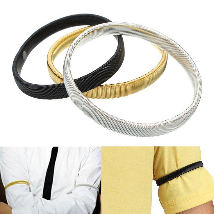 2pcs Arm Band Armband Elastic Bracelet Anti Slip Shirt Sleeve Holders